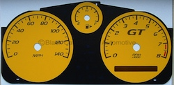 Pontiac G5 Yellow Gauge Face