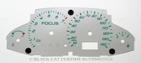 2000-2004 Ford Focus Silver Gauge Face