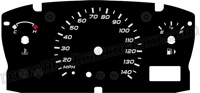 00-04 Ford Focus Gauge Face No Tach