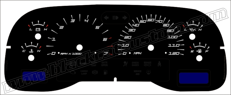 01 04 Dakota Mph Edge Style Gauge Face