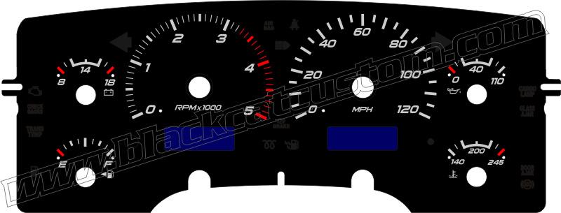 Black Cat Custom Automotive Dodge Ram Truck Gauge Faces