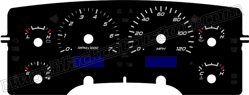 02 05 Dodge Ram Truck Gauge Face