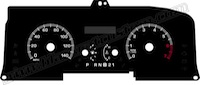 2006-2011 Crown Vic Gauge Face 140mph