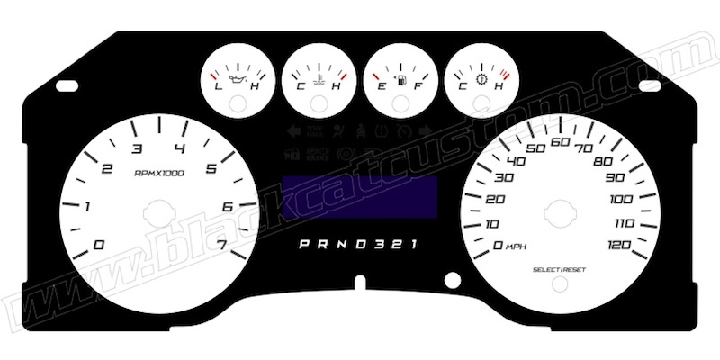 Black Cat Custom Automotive - Ford F150 Gauge Faces
