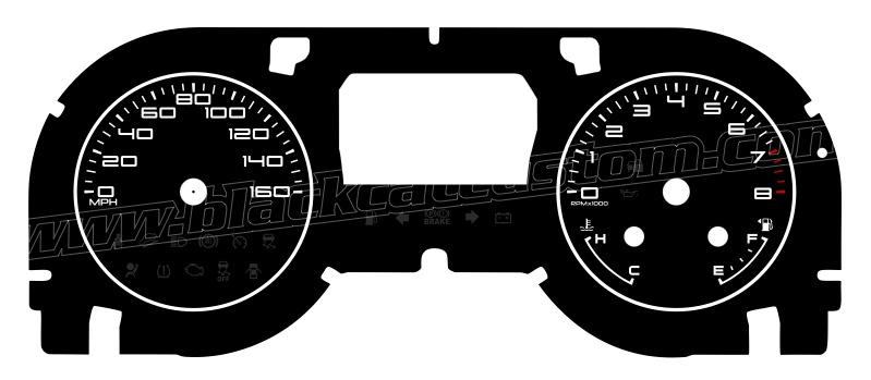 Black Cat Custom Automotive 2013 2014 Ford Mustang Gauge