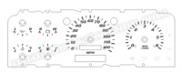 1992-1996 Ford F150 Lightning Gauge Face