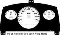 95-98 Cavalier without Tach Gauge Face Automatic