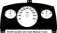 95-98 Cavalier without Tach Gauge Face