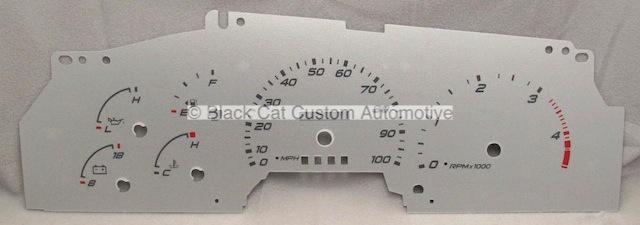 Black Cat Custom Automotive - Ford F250 F350 Excursion Gauge Faces