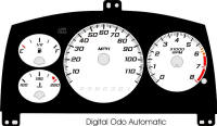 98-99 Cavalier Digital ODO with Tach Gauge Face Auto