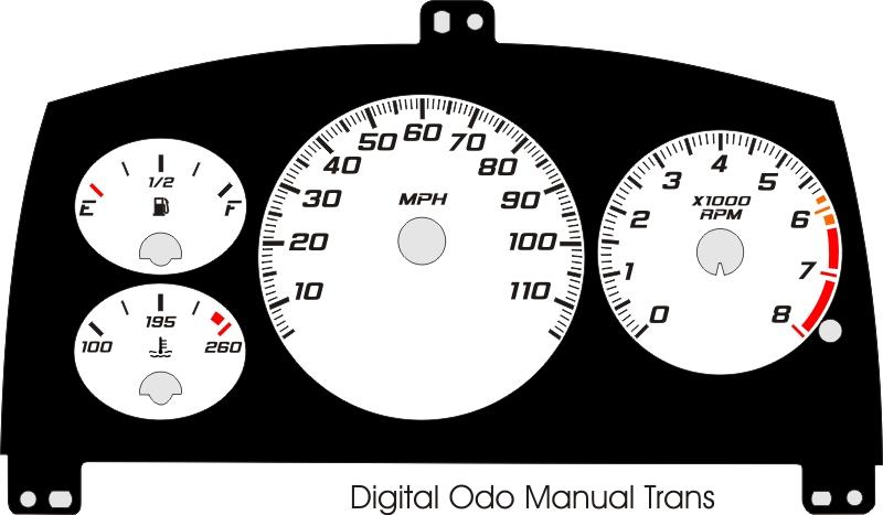 1998 1999 Cavalier Digital ODO With Tach Gauge Face