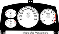 98-99 Cavalier Digital ODO with Tach Gauge Face