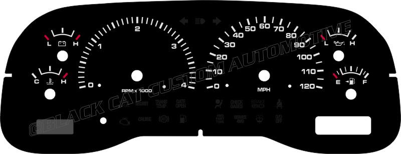 1999 2001 Dodge Ram Truck Gauge Face Sel Automatic Mph 119 00 Usd