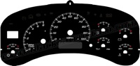 99-02 GM Full Size HD Truck Gauge Face