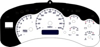 99-02 GM Full Size Truck Gauge Face