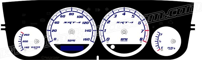 Black Cat Custom Automotive Dodge Neon Gauge Faces