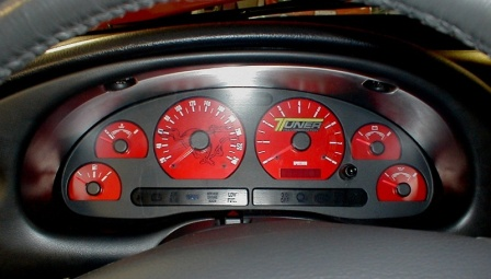 mustang gt custom tuner transformation gauge face