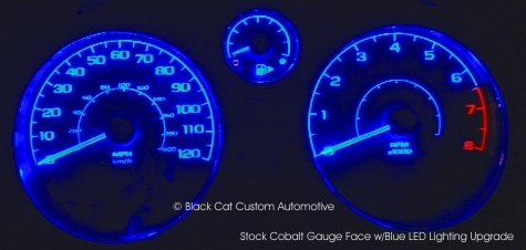 Blue Led Kit Used With Stock Cobalt Gauge Face