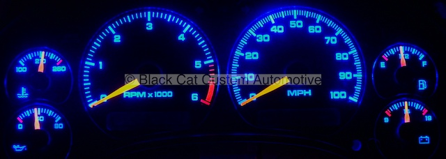 Black cat custom automotive chevy s10 xtreme blazer gauge s10 blue led lighting freerunsca Images