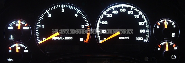 Black cat custom automotive chevy s10 xtreme blazer gauge s10 white led lighting sciox Image collections