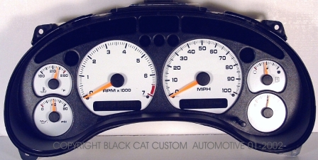Black cat custom automotive chevy s10 xtreme blazer gauge 98 05 s10xtremes15jimmyblazersonoma 100mph 4cyl gauge cluster not included freerunsca Images